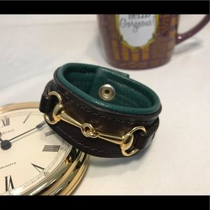 Jewelry - 🔆 TODAY!!! Horsebit design leather cuff bracelet